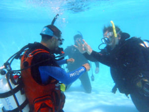 Instructor training course, part of becoming a professional dive leader