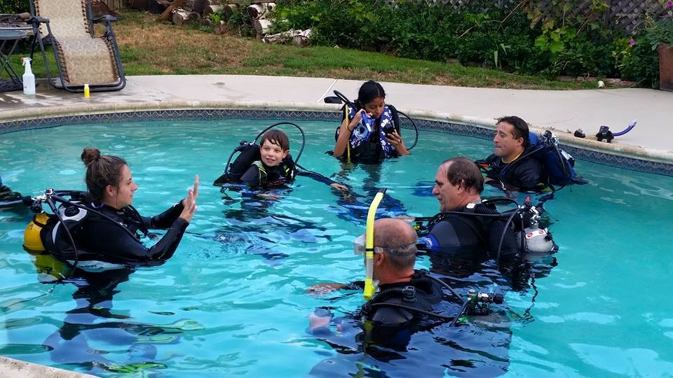 Pool sessions are part of our basic open water certification course
